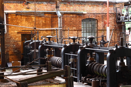 Old factory with vintage machinery