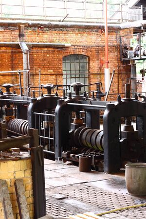 antique factory: Old factory with vintage machinery