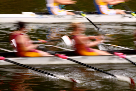 Abstract image of rowers competing in a regatta