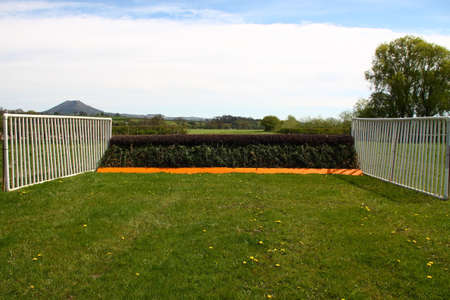 Fence on a racecourse