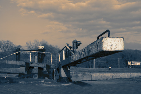 Canal lock gate on the Shropshire Union Canal with colour toning Reklamní fotografie