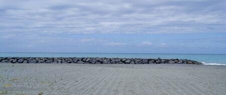 tyrrhenian: A beautiful beach on the coast of the Tyrrhenian Sea for a wonderful beach vacation Stock Photo