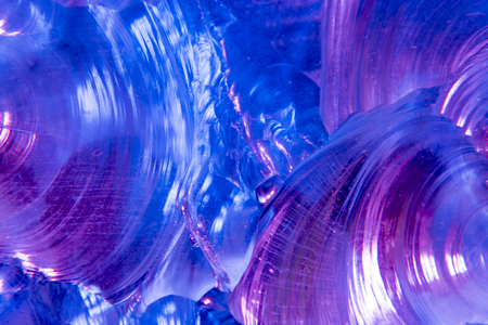 primordial: Whirlwind of colors blue and purple Stock Photo