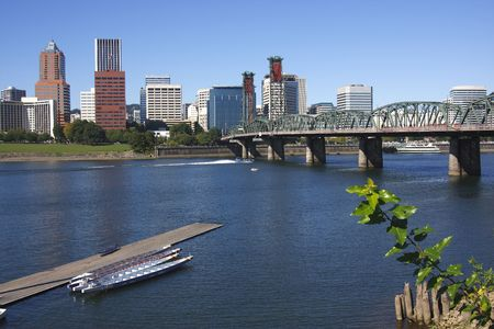 A view of Portland OR. Imagens
