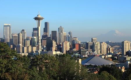seattle: Horizonte el centro de Seattle, WA