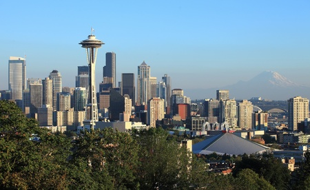 Seattle downtown skyline, WA