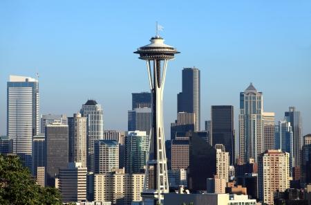 시내 시애틀, 워싱턴의 스카이 라인.