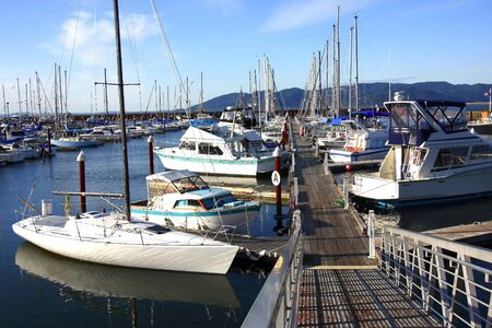A Marina in Astoria Oregon  Imagens