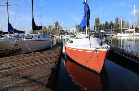 moored: Moored sailboat, Portland OR.