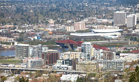 blazer: The Broadway bridge & Blazer stadium, Portland OR.