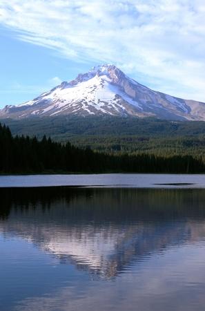 trillium lake: Mt. Hood & Trillium lake, Oregon.  Stock Photo