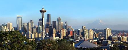 Seattle skyline panorama.  photo