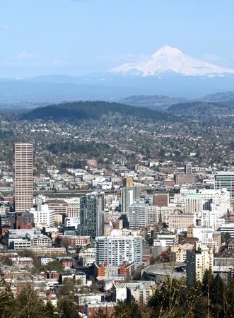 Portland OR. Mt. Hood.  Stock Photo