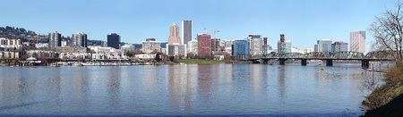 portland: A panorama of Portland Oregon.