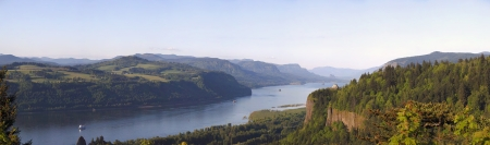 Columbia River Gorge OR.,panorama. Stock Photo