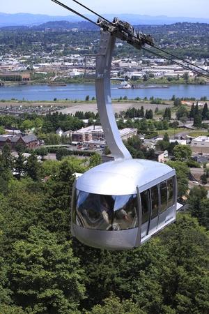 tram: Aerial tram, Portland Oregon.
