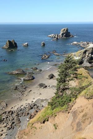 Oregon coast pacific northwest cliffs & beaches. Stock Photo - 10347339