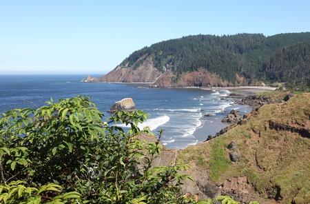 オレゴンの海岸太平洋岸北西部の崖 & ビーチ。