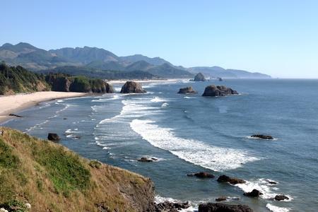 Oregon coast pacific northwest cliffs & beaches.  Stock Photo - 10347325
