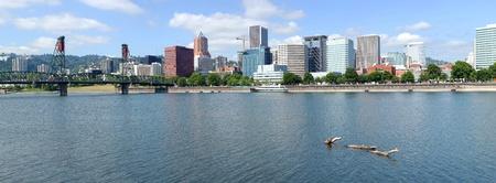 A view of Portland Oregon skyline panorama. photo
