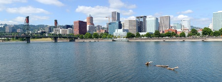 A view of Portland Oregon skyline panorama. photo
