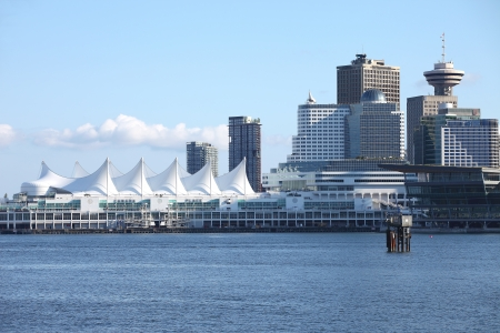 Canada Place in Vancouver BC Canada a port of entry & departure for cruise ships. photo