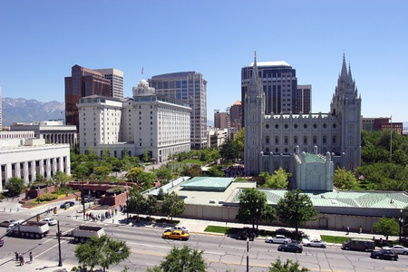 lagos: Salt Lake city, Utah (centro) Editorial
