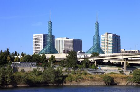 willamette: Twin towers convention center, Portland OR.  Editorial