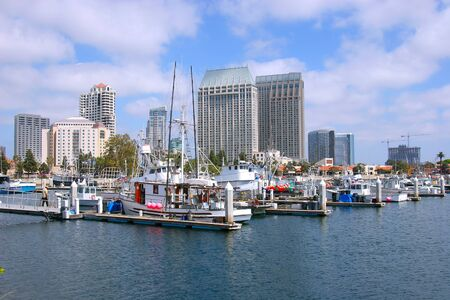 San Diego marina, California.