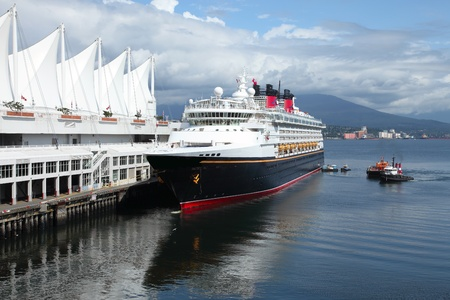 Moored cruise ship in Canada Place Vancouver BC Canada port of entry. Stock Photo - 10909324