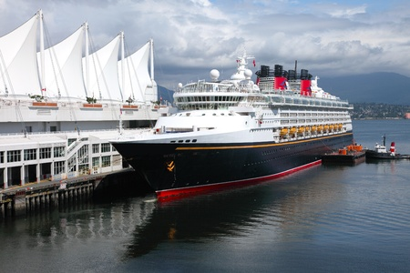 Moored cruise ship in Canada Place Vancouver BC Canada port of entry. Stock Photo - 10909320