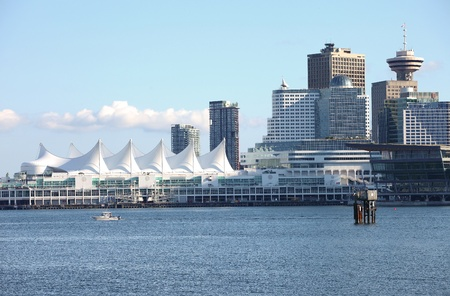 light duty: Canada Place & the Vancouver BC skyline, Canada.