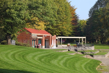 Public facility accommodation in a park. photo