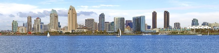 A panorama of San Diego skyline California. photo