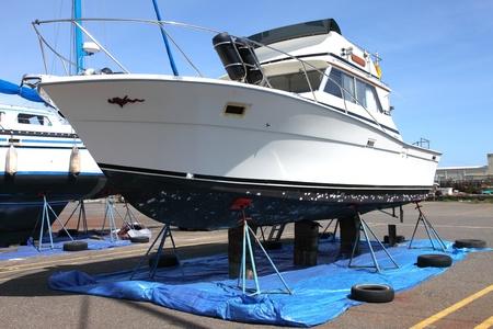 Reparatiewerf voor boten, Astoria OF. Stockfoto - 11494888