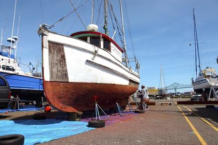 Repair yard for boats, Astoria OR. Stock Photo - 11570356