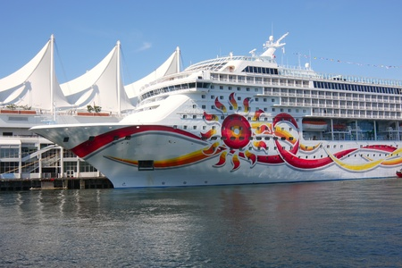Cruise ship in Vancouver BC Canada Place, Canada.