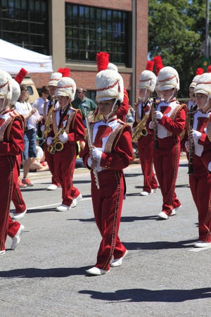 PORTLAND - JUNE 12  Rose Festival annual parade through downtown June 12, 2010 in Portland, Oregon  Stock Photo - 12617859