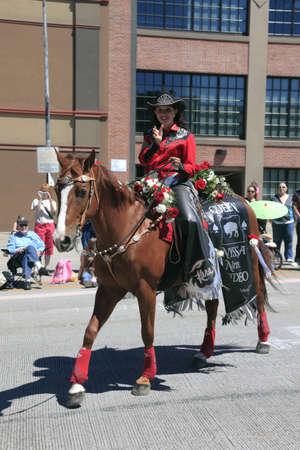 chiefs families: PORTLAND - JUNE 12  Rose Festival annual parade through downtown June 12, 2010 in Portland, Oregon  Editorial