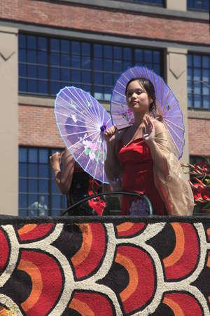 chiefs families: PORTLAND - JUNE 12  Rose Festival annual parade through downtown June 12, 2010 in Portland, Oregon  Recreational entertainment near the riverfront