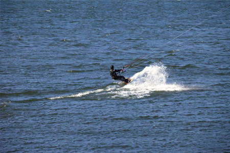 Wind surfers enjoying the pull, Columbia River Gorge OR