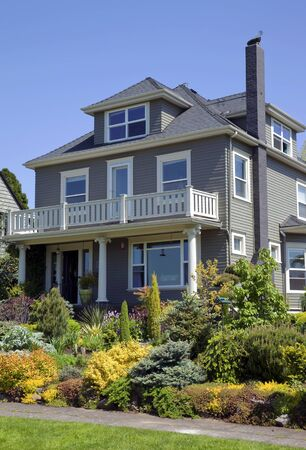 Residential house   garden Portland OR