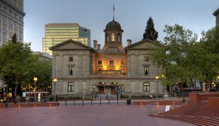 portland: Pioneer Square Courthouse in Portland Oregon