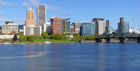 City of Portland Oregon skyline panorama