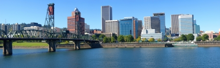 Portland Oregon architecture, the Spirit of Portland ship and river  photo