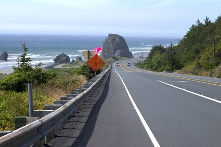 Oregon coast driving Hwy-101 northbound