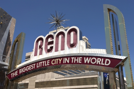 Reno The Biggest Little City in the World  Stock Photo