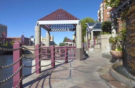 Downtown Reno NV , promenade and park