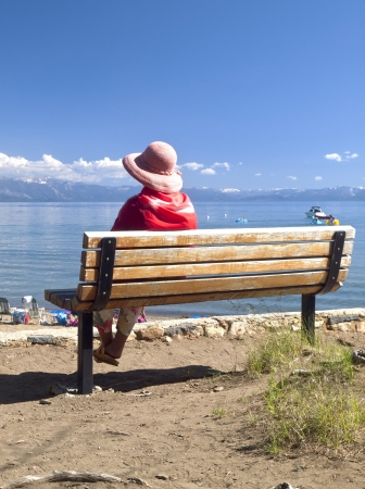 Visiting lake Tahoe in California and Nevada states  photo