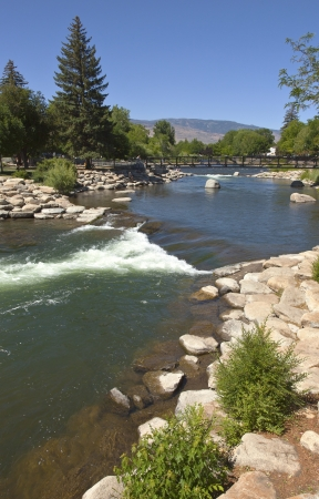 Riverflow rocks and surroundings in downtown Reno NV
